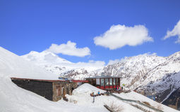 caucasus Górska kawiarnia Ai Zdjęcia Stock