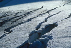 caucasus glaciär royaltyfri bild