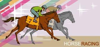 caucasus hipodromu koński północny pyatigorsk target2301_0_ Russia Dżokej na bieżnym końskim bieg meta Biegowy kurs ilustracji