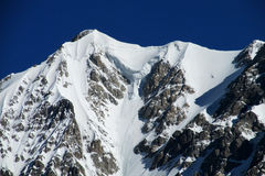 Caucasus ice and rocky peaks Stock Image