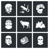 Caucasus icons. Vector Illustration. Stock Images