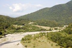 Caucasus landscape Stock Photo