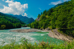 Caucasus landscape Stock Photo