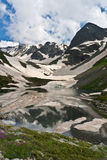 Caucasus landscape with crystal river. Stock Images