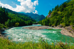 Caucasus landscape Royalty Free Stock Photos