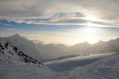 caucasus montains Arkivfoton