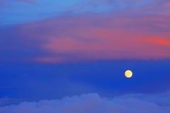 Caucasus Moonlight Stock Photo