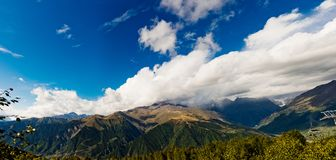 Caucasus mountain landscape Stock Images