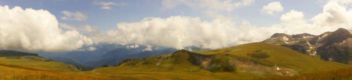 Caucasus mountain landscape. Lago-Naki plateau panorama Royalty Free Stock Photo