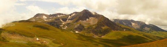 Caucasus mountain landscape. Lago-Naki plateau, the view of Mount Oshten Stock Photography