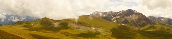 Caucasus mountain landscape. Lago-Naki plateau, the view of Mount Oshten Royalty Free Stock Images