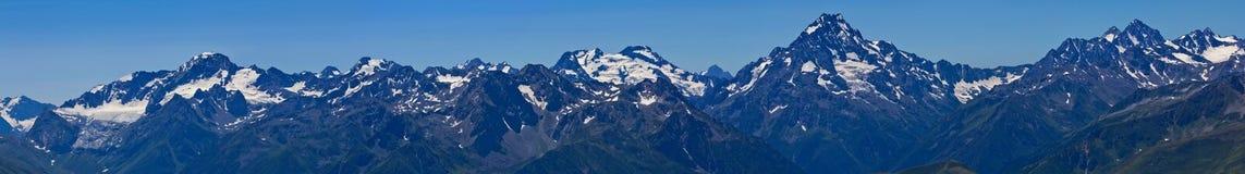 Caucasus mountain panorama Stock Photo