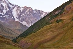 Caucasus mountain range in Georgia. Mountain landscape Royalty Free Stock Images