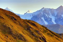 Caucasus mountain range in Georgia. Mountain landscape Royalty Free Stock Image