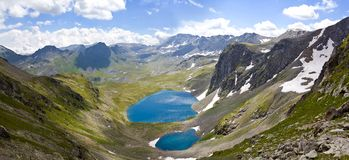 Caucasus mountain valley Royalty Free Stock Photos