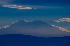 Caucasus mountains. In the evening Stock Photography