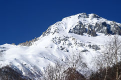 Caucasus Mountains. Dombaj. Snow-capped mountains Royalty Free Stock Photo
