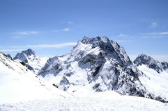 Caucasus Mountains. Dombaj. Ski resort Stock Photos