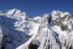 Caucasus Mountains. Dombaj. Ski resort Royalty Free Stock Images