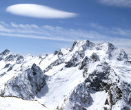Caucasus Mountains. Dombaj. Ski resort Royalty Free Stock Image