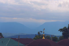 The Caucasus mountains on the background Royalty Free Stock Images