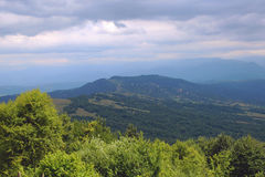 The Caucasus mountains on the background Stock Photo
