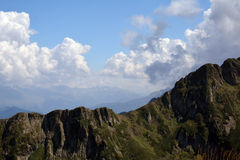 Caucasus mountains in a beautiful cloudy day Royalty Free Stock Photo