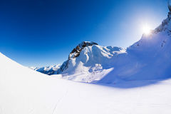 Caucasus mountains beautiful winter landscape view Royalty Free Stock Photography