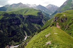 Caucasus mountains, border bet Royalty Free Stock Photography