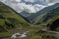Caucasus mountains, canyon of Argun. Road to Shatili , Georgia, Royalty Free Stock Image