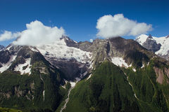 Caucasus Mountains. Dombai Stock Images