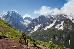 Caucasus Mountains. Dombai Stock Photography