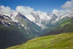 Caucasus Mountains. Dombai Royalty Free Stock Photos