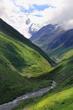 Caucasus mountains Dombai. Image of beautiful landscape with Caucasus mountains Royalty Free Stock Photo