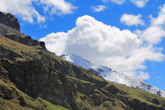 Caucasus mountains Dombai. Image of beautiful landscape with Caucasus mountains Royalty Free Stock Photography