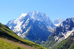 Caucasus mountains Dombai Stock Images