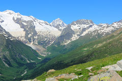 Caucasus mountains Dombai. Image of beautiful landscape with Caucasus mountains Royalty Free Stock Images