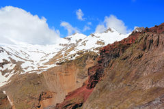 Caucasus mountains Dombai Royalty Free Stock Images
