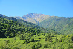 Caucasus mountains Dombai. Image of beautiful landscape with Caucasus mountains Royalty Free Stock Image