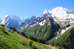 Caucasus mountains Dombai. Image of beautiful landscape with Caucasus mountains Stock Photography