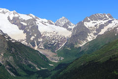 Caucasus mountains Dombai Royalty Free Stock Photos