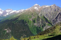 Caucasus mountains Dombai Stock Photo