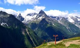 Caucasus Mountains, Dombay Royalty Free Stock Images