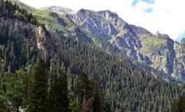 Caucasus Mountains, Dombay. Dombay, the border of the Republic of Karachay-Cherkessia and Abkhazia. Photo taken on:  July 26 Friday, 2013 Stock Images