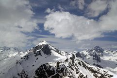 Caucasus Mountains. Dombay. Semenov Bashi Royalty Free Stock Images