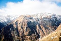 Caucasus mountains in Georgia Royalty Free Stock Photos