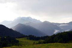 Caucasus mountains after heavy rain Stock Images