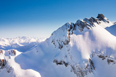 Caucasus mountains high view during winter Royalty Free Stock Photos
