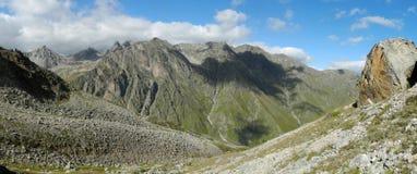 The Caucasus. Mountains  hill moraine valley wildlife Alpine tourism distance Caucasus Royalty Free Stock Image