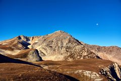 The Caucasus Mountains are a mountain system in West Asia between the Black Sea and the Caspian Sea in the Caucasus region. Stock Photography